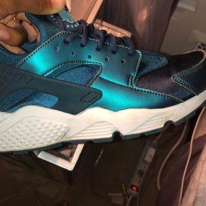 Blue Nike Huaraches